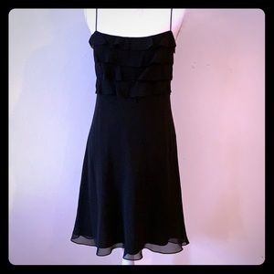 Stunning silk lined LBD from The Loft, size 4
